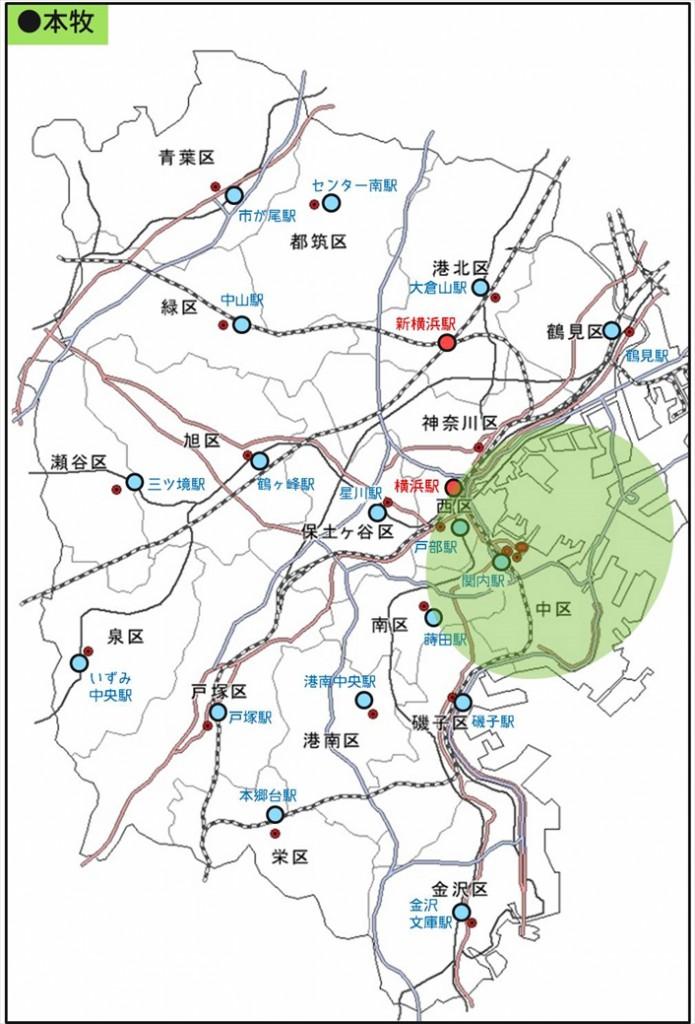 キョウエイアド 交通広告 横浜市営バス 走行エリア